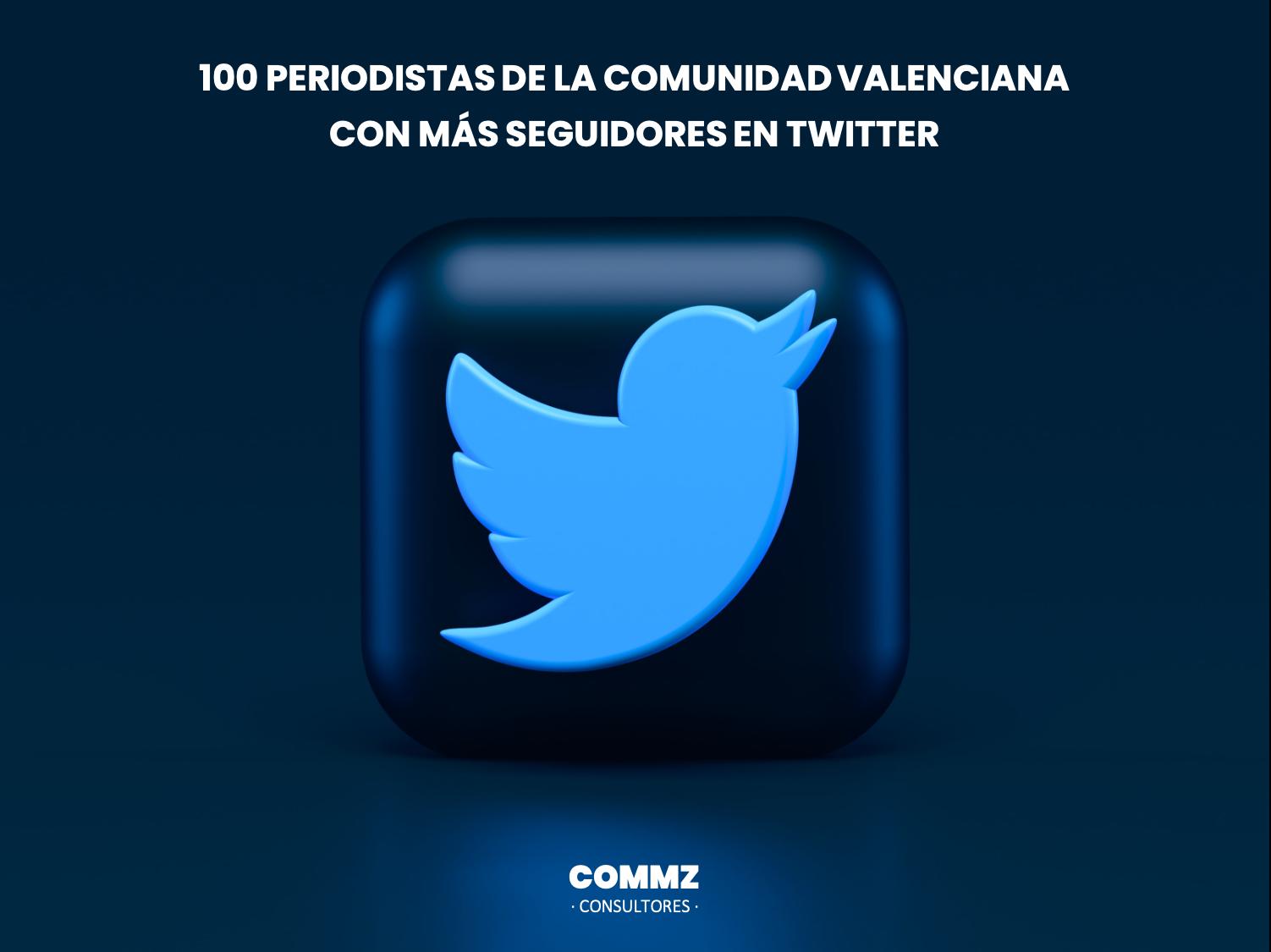 Solo 23 mujeres en el TOP100 Periodistas con más seguidores en Twitter de la Comunidad Valenciana